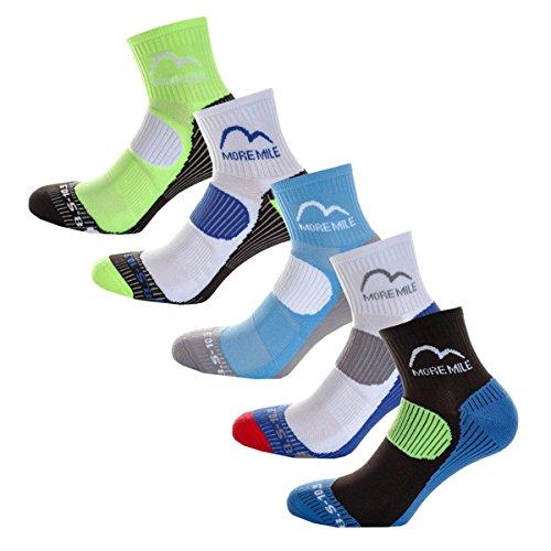 More Mile London (5 Pair Pack) Mens Cushioned Running Socks