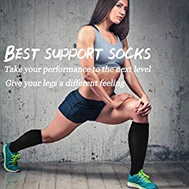 ACTINPUT Compression Socks for Women & Men 8 Pairs Circulation 15-20mmHg – Best Medical,Running,Nursing,Recovery Socks