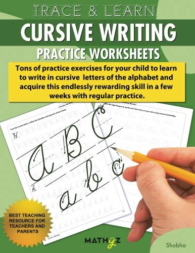 Trace & Learn - Cursive Writing: Practice Worksheets