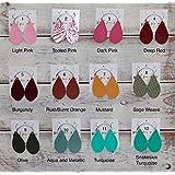 Extra Small Lightweight Handmade Leather Teardrop Earrings - 53 Stylish Colors