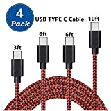 Best Charger Cables For Galaxies - USB Type C Cable, AOKER [4 Pack 3ft/6ft/6ft/10ft] Review