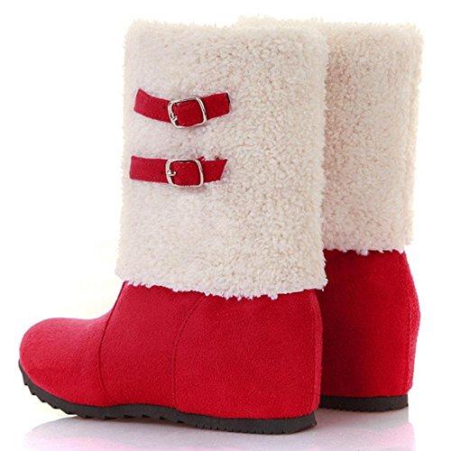 Ankle Boots Red Women's TAOFFEN TAOFFEN Women's 8S7nwwxqU