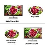 RCA to HDMI, GANA 1080P Mini RCA Composite CVBS AV