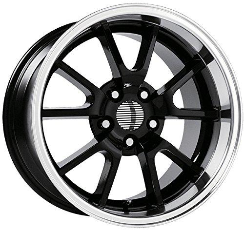 OE Performance 118B 18x9 5x114.3 +30mm Gloss Black Wheel (Mustang Black Fr500 Rims)