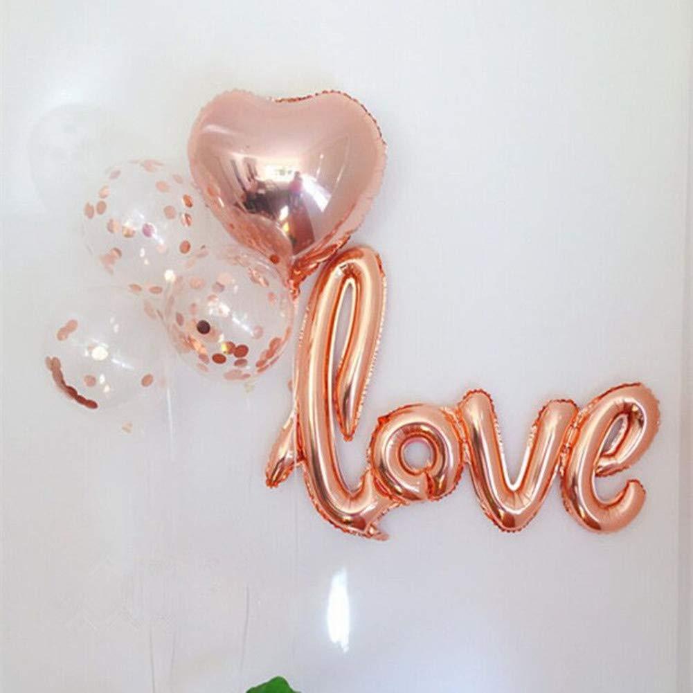 6e5e9416bc7f Rose Gold Foil Confetti Balloon Bouquet for Engagement Party Decorations