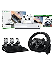 Microsoft Xbox One S Forza Horizon 3 and Motorsport 7 1TB Console and Logitech G920 Driving Force Racing Wheel (For Xbox One and PC) Bundle