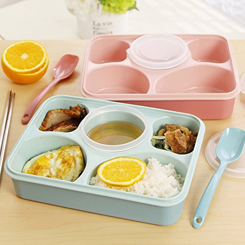 coffled bpa free plastic bento lunch box resuable microwavable dishwasher safe and stackable. Black Bedroom Furniture Sets. Home Design Ideas