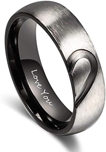 Forever Love Rings Engraved Promise Gifts For Her His Girl Wife Couple Men Women