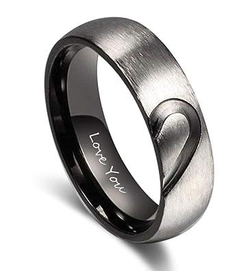 Amazon.com: Fortheday - Juego de anillos de compromiso ...