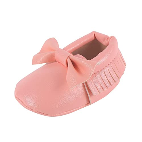111d068e3dd Weixinbuy Baby Boys Girls Soft Soled Tassel Bowknots Crib Shoes PU Moccasins