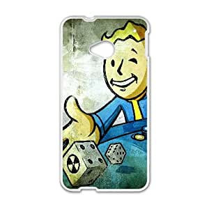 Vault Boy Fallout Game HTC One M7 Cell Phone Case White yyfabc_975821