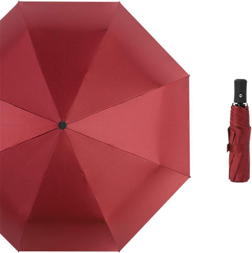 JUNDY Paraguas Compacto y Resistente al Viento, Paraguas Plegable, Conveniente para Viajes Paraguas automático plástico Negro Ampliar Color plegable2 107cm: Amazon.es: Hogar