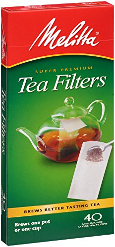 Melitta Tea Filters, 40-Count (Pack of 6)