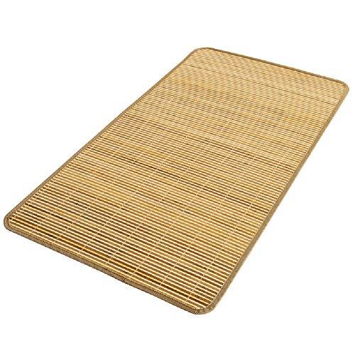 YJFENG Mattress Topper Summer Sleeping Mats Mattress Protector Baby Cot Baby Cart Summer Breathable Easy to Clean Corrosion Resistant,26 Sizes (Color : Natural, Size : 50x125cm)