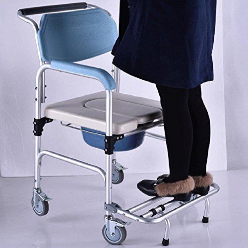 Healthcare Folding Portable Fixed Height Mobile Commode