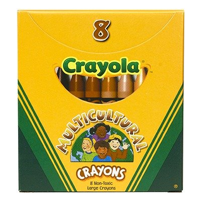 SCBBIN080W-19 - MULTICULTURAL CRAYONS LARGE 8PK pack of 19 by Shoplet Best