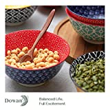 DOWAN Porcelain Cereal Bowls, 23 Fluid Ounces