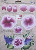 Plaid Folk Art One Stroke CABBAGE ROSE Flowers & Leaves Reusable Painting Teaching Guide: