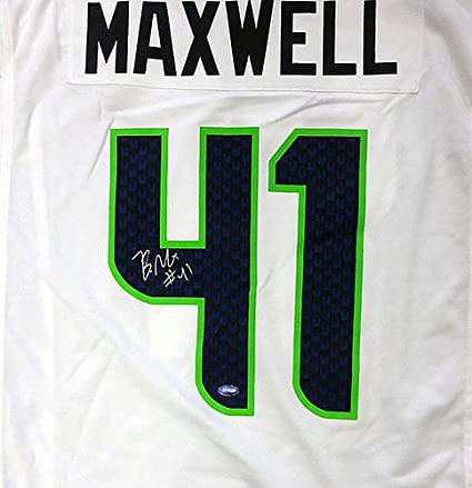 Authentic Autographed Seattle Seahawks Byron Maxwell White Nike ...