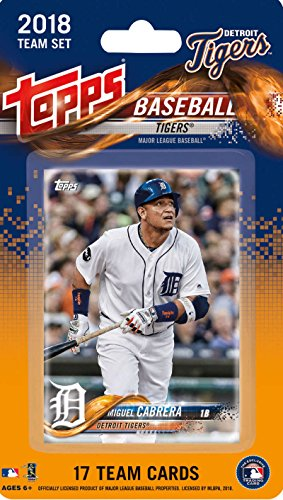 2018 Topps Baseball Factory Detroit Tigers Team Set of 17 Cards which includes: Miguel Cabrera(#DT-1), Jose Iglesias(#DT-2), James McCann(#DT-3), Michael Fulmer(#DT-4), Daniel Norris(#DT-5), Jordan Zimmermann(#DT-6), Buck Farmer(#DT-7), Jeimer Candelario(#