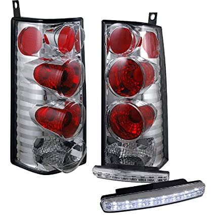 Amazon.com: 1996-2002 CHEVY EXPRESS/GMC SAVANA VAN TAIL LIGHTS REAR BRAKE LAMPS +DRL LED FOG: Automotive