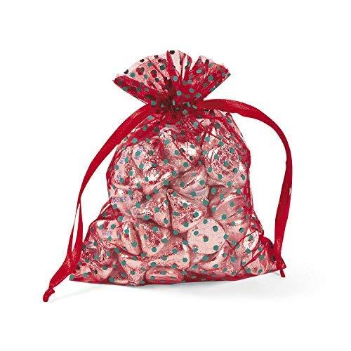 Christmas Polka Dot Organza Bags