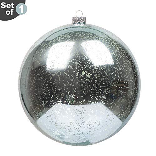 KI Store Large Christmas Ball Ornament Teal Oversize Decorative Hanging Decoration Mercury Ball 8 Inch Oversize Shatterproof Vintage for -