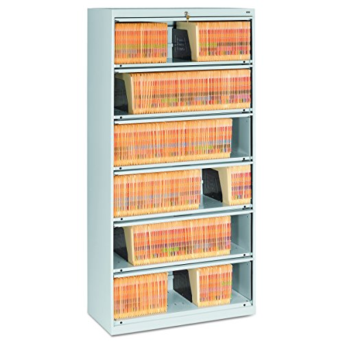 Tennsco Closed Fixed Shelf Lateral File 36w x 16 1//2d x 75 1//4 Light Gray