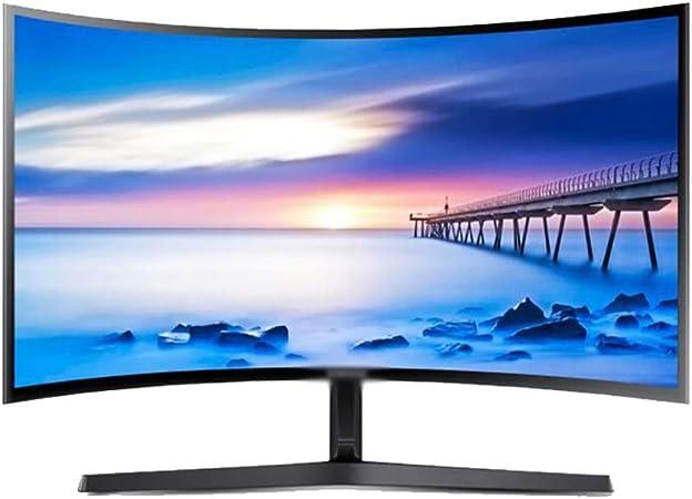 YXSP Monitores 27-Pulgadas de Pantalla Curvada Oficina LCD, Display Protección de Los Ojos del LED (Interfaz HDMI VGA Audio) Negro: Amazon.es: Hogar