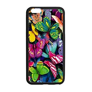 iPhone 6 Plus Case, Awesome Beautiful Colorful Butterfly TPU Frame & PC Hard Back Protective Cover Bumper Case for iPhone 6 Plus 5.5 Inch On 2014