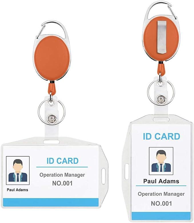 Carte d/'identité en plastique porte-badge transparent ID couvercle horizontal`fr