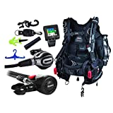 Mares Scuba Diving Computer, Regulator Set, Octo Complete Premium Package w/ BCD