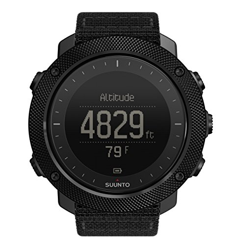 Suunto Traverse Alpha GPS/GLONASS Watch with Versatile Outdoor Functions for Fishing and Hunting and Wearable4U Ultimate Power Pack Bundle (Stealth) by Wearable4u (Image #2)