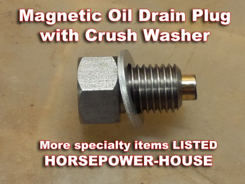 12mm us made magnetic oil drain plug with washer yamaha for Yamaha blaster crankcase oil type
