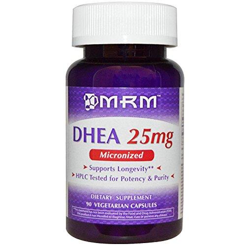 MRM Micronized DHEA Vegetarian Capsules, 25 mg, 90-Count Bot