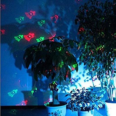 LEEPO Waterproof Christmas Theme Remote Control LED Landscape Projector Moves Automatically 12 Patterns Decoration Light