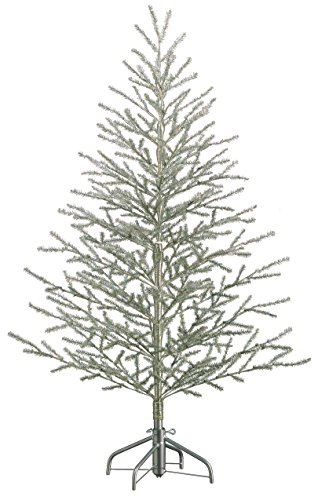 5'Hx40'D Tinsel Tree x368 on Metal Stand Antique Silver