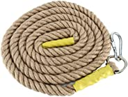 YaeTool Heavy Duty 38MM Gym Climbing Ropes for Adult Improve Grip and Increase Power