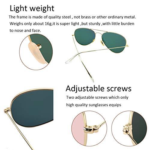 8dec704b889 YuFalling Polarized Aviator Sunglasses for Women and Men - Buy ...