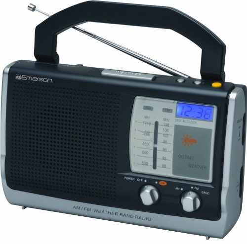 Price comparison product image Emerson Portable Weather Clock Radio (RP6251) (Discontinued by Manufacturer)
