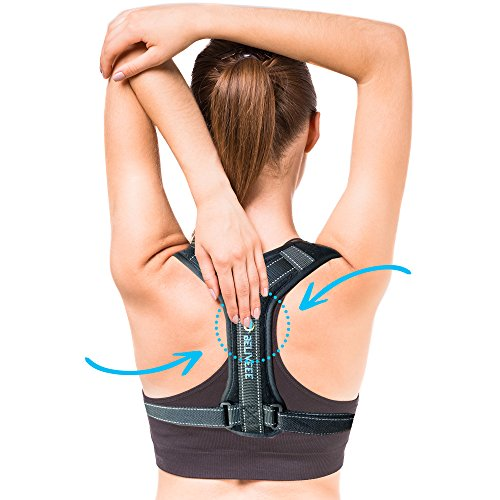Beliveee Back Posture Corrector Brace for Men/Women - Adjustable Under Clothes Wearable Elastic Back Shoulder Neck Support Orthopedic Brace-Improves Posture and Relieves Back Pain