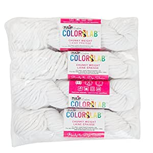 Bulk Buy: Tulip Chunky Weight Dyeable Cotton Yarn 100g 12 Ply 4 Pack