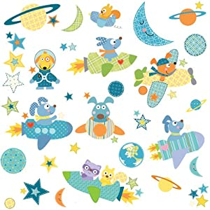 RoomMates Repositionable Childrens Wall Stickers Rocket Dog Part 39