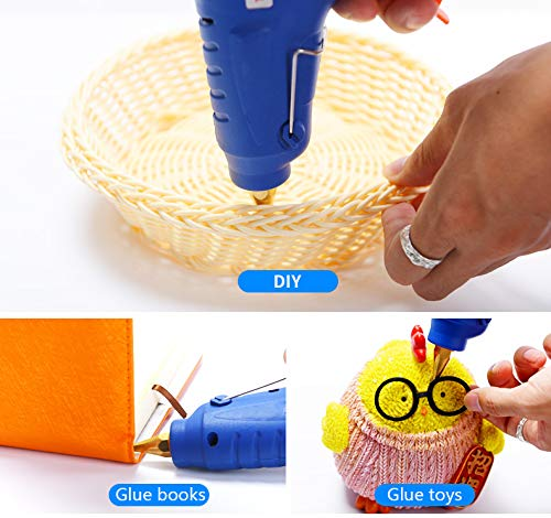 BMIETE 60W high-Temperature Hot Glue Gun with 10pcs Glue Sticks,Storage Box Included - for Arts Crafts School Home Repair and Sealing DIY …