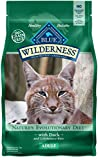 Blue Buffalo Wilderness High Protein Grain Free, Natural Adult Dry Cat Food, Duck 2-lb