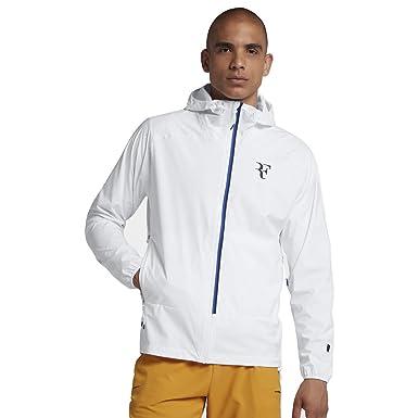 386217f7 Amazon.com: Nike Court HyperShield RF(Roger Federer) Men's Tennis Jacket  (White/Blue, Medium): Clothing