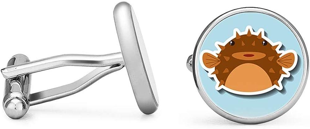 Oakmont Cufflinks Pufferfish Cufflinks Blowfish Cuff Links Contoured Edition