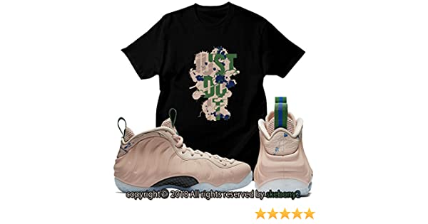 22c3b703358795 Custom T Shirt Matching AIR Foamposite 1 Particle Beige FOAM-1-13-5 at  Amazon Men s Clothing store