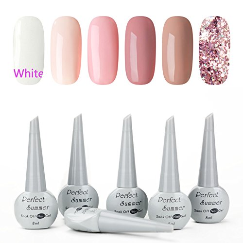 Perfect Summer Gel Nail Polish Set - UV LED Soak Off Nail Ar