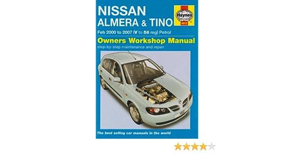 nissan almera and tino petrol service and repair manual haynes rh amazon com haynes manual nissan almera tino diesel Nissan Almera IMPUL Custom